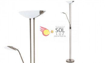 Lámpara de pie LED en cuero de EGLO colección BAYA LED