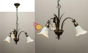 Lámpara techo forja 3-luces
