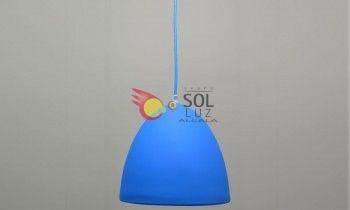 Lámpara juvenil en color azul