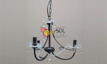 Lámpara clásica de forja marrón