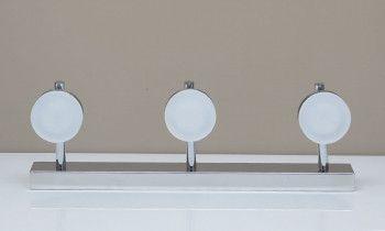 Regleta de focos LED 3 luces en cromo