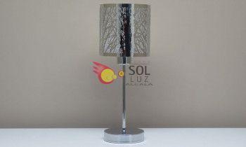 Lámpara de sobremesa cromo con árboles