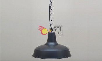 Lámpara de metal en color marrón