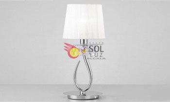 Lámpara de sobremesa MANTRA de la colección LOEWE en cromo
