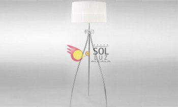 Lámpara de pie MANTRA de la colección LOEWE en cromo