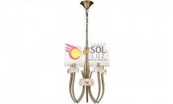 Lámpara de techo MANTRA de la colección LOEWE 5 luces en cuero