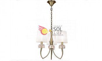 Lámpara de techo MANTRA de la colección LOEWE 3 luces en cuero