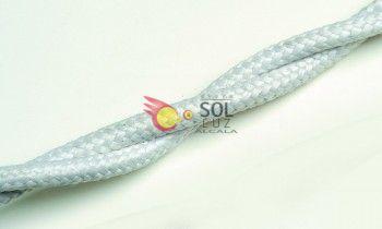 Cable trenzado algodón blanco