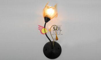 Aplique forja 1 luz tulipa...