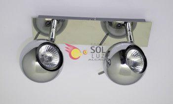 Regleta cromo con dos esferas