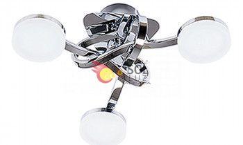 Plafón cromo 3 luces con...