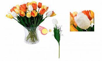 Tulipán artificial en color blanco