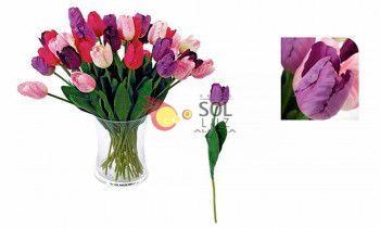 Tulipán artificial violeta