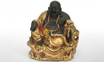 Figura de buda en dorado de resina