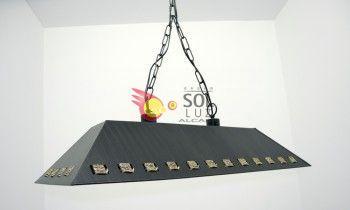 Lámpara de forja rectangular