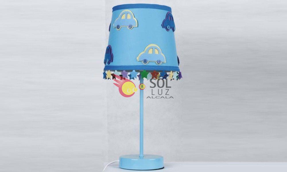 Lámpara de sobremesa infantil azul