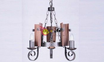 Lámpara de forja con tejas