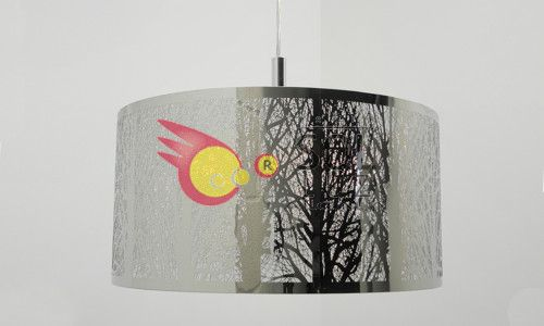 Lámpara de techo en cromo
