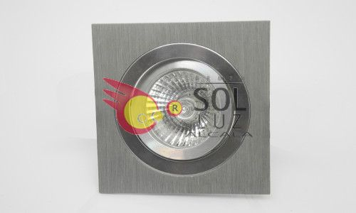 Empotrable cuadrado aluminio