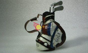 Bolsa de golf burdeos