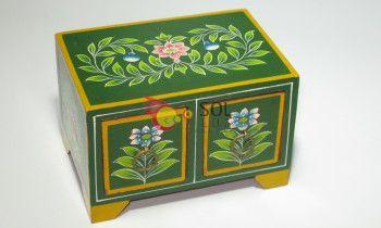 Caja madera pintada a mano