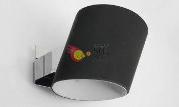 Aplique de cristal en color negro