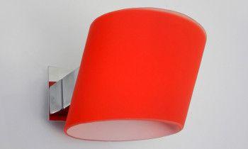 Aplique de cristal en color rojo