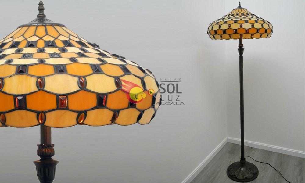 Lámpara de pie de salón Tiffany