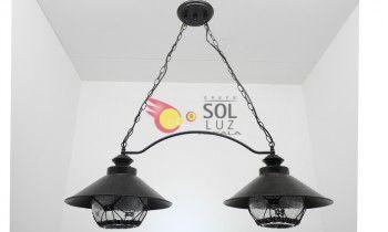 Lámpara de dos luces de estilo náutico