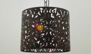 Lámpara de forja en marrón
