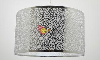 Lámpara cromo con círculos