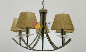 Lámpara cuero de cinco luces