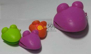Guante rana de silicona rosa