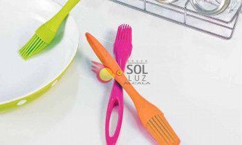 Pincel de silicona naranja