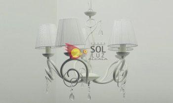 Lámpara de forja blanca